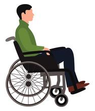Wheelchair Man, Illustration, ...