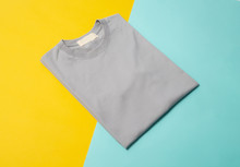 Grey Folded T-shirt Isolated O...