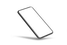 Black Mobile Smartphone Mockup...