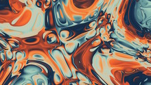 Fiery Pastel Glass Abstract Ba...