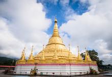 Shwedagon Pagoda Model In Tachileik Province, Myanmar