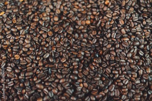 Café tostado en maquina antigua
