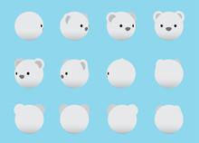 Animal Head Polar Bear Animate...