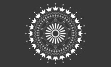 Simple Black And White Mandala...