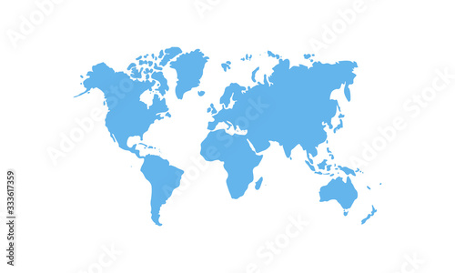 Valokuva map of the world isolated on transparent background