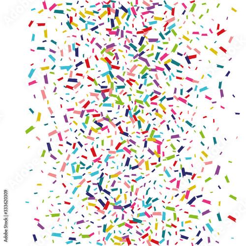 Fototapeta Color Festival Dust Backdrop. Confetti Backdrop. Rain Transparent Banner. Rainbow Top Backdrop. obraz na płótnie