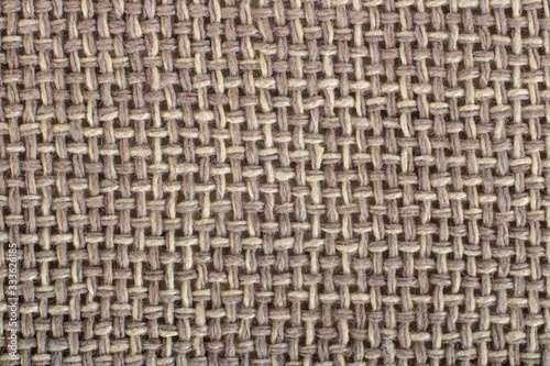 Texture brown canvas fabric as background, sack texture