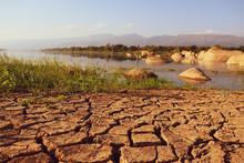Dry Cracked Earth Background I...