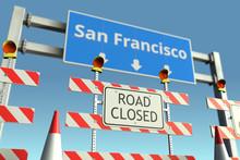 Roadblock At San Francisco Cit...