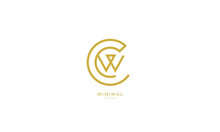 Alphabet Letter Icon Logo CW Or WC