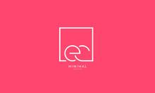 Alphabet Letter Icon Logo EC