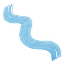 Hand Drawn Watercolor Blue Wav...