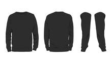 Men's Black Sweatshirt Templat...