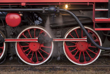 Locomotive Wheels In Chabowka....