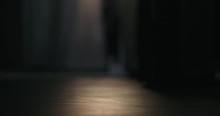 Slow Motion Closeup Of Man Wal...