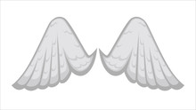 Angelic Wings With White Feath...