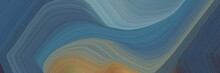 Creative Banner With Teal Blue, Gray Gray And Light Slate Gray Color. Elegant Curvy Swirl Waves Background Design