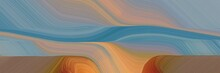 Landscape Banner With Waves. M...