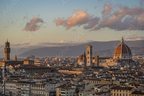Overlooking Florence Italy from Piazzale Michelangelo Canvas Print