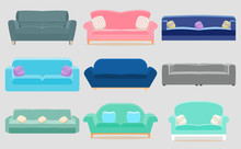 Set Of Sofa. Collection Of Sof...