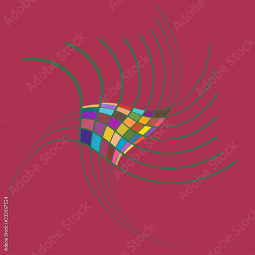 Smudged, smeared creamy single mottled, multi-color and colorful spiral, swirl, twirl element Tapéta, Fotótapéta