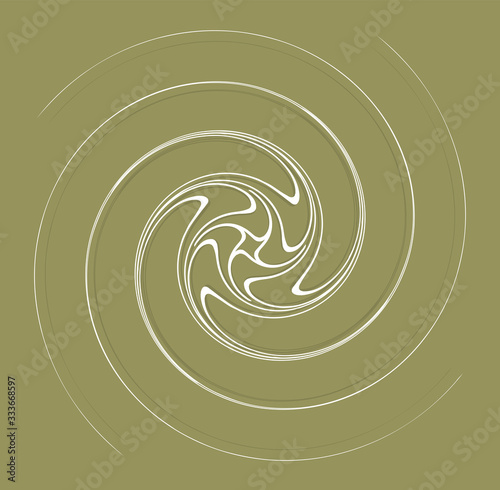 Tablou Canvas white helical, spiraling, curl and curly shape