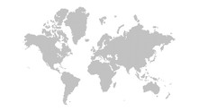 Dotted World Map On White Back...