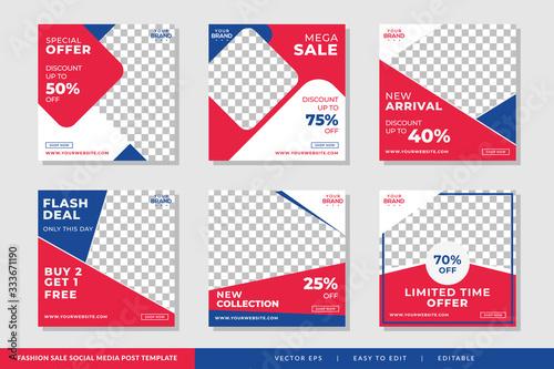 Fashion Sale social media post template Premium Vector Fototapet