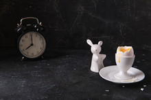 Boiled Egg In A Ceramic White ...