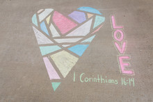 1 Corinthians 16:14 LOVE Geome...
