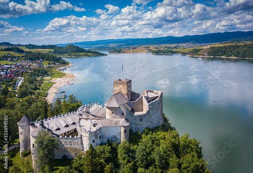 Fototapeta Lake Czorsztynskie Czorsztyn Niedzica Castle Dam Podhale Pieniny Tatry Zakopane obraz