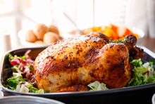 Whole Roasted Chicken With Fre...