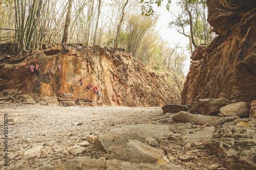 Visited to Hellfire pass Memorial in Kanchanaburi. Fototapet