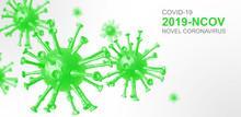 Wirus Koronowy W Zielonej Tętnicy - Koncepcja Mikrobiologii I Wirusologii - Renderowania 3d