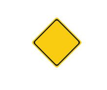Empty Yellow Sign Free Vector Illustration