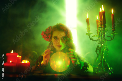 Photo bewitching fortune teller