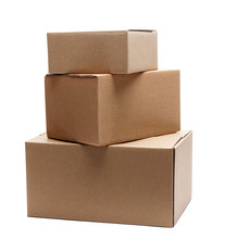 Stack Of Three Cardboard Boxes...