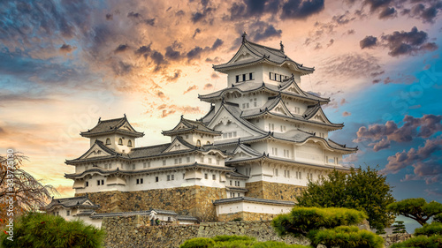 Himeji Castle white heron castle, Unesco World Heritage Site Himeji castle, An elegant and impregnable samurai fortress, Hyogo prefecture, Japan Canvas-taulu