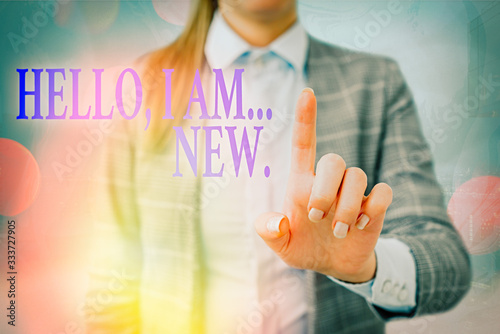 Handwriting text writing Hello I Am New Canvas Print