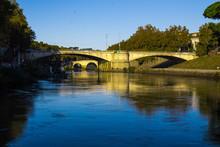 Rome, Sunny Day, Bridge Over The Tiber River