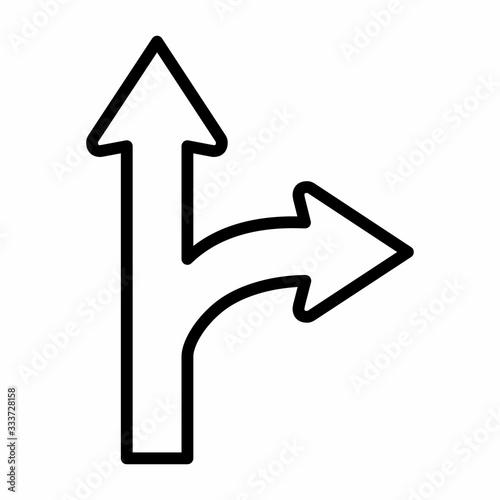 Go Straight - Turn Right icon Slika na platnu