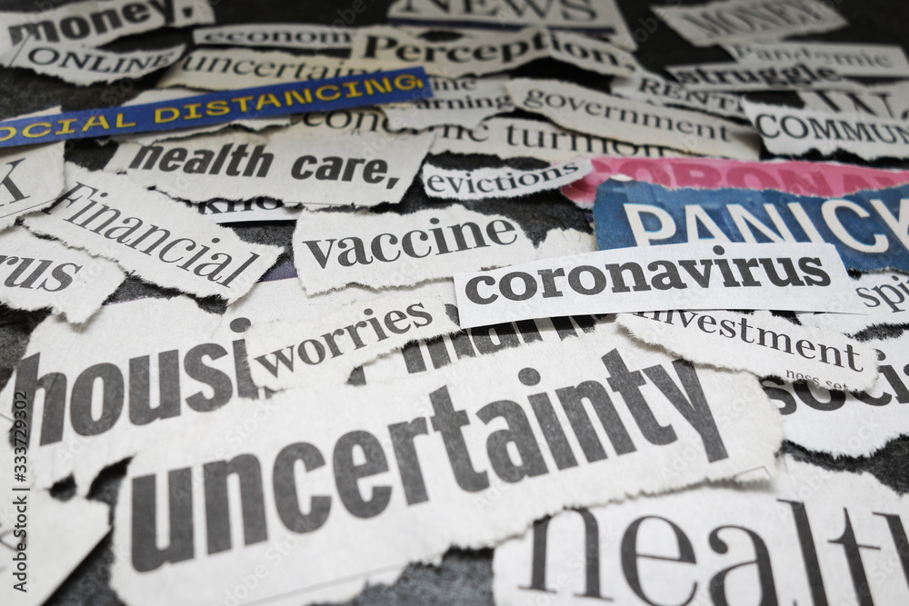 Fototapeta Corona Virus newspaper headlines