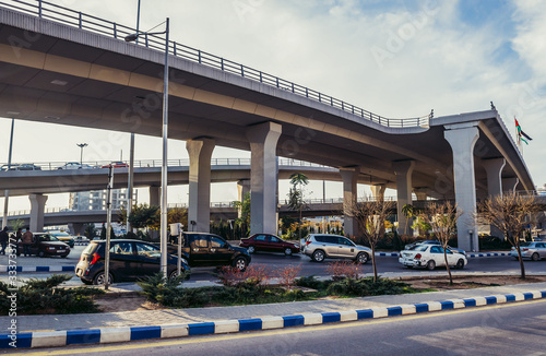 Crossroad of Sulayman Al Nabulsi and Queen Noor Streets in Amman, Jordan Canvas Print