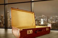 Retro Suitcase Of Free Space F...