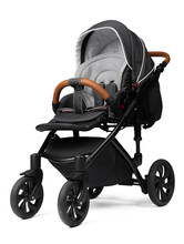 Black Baby Carriage Isolated O...