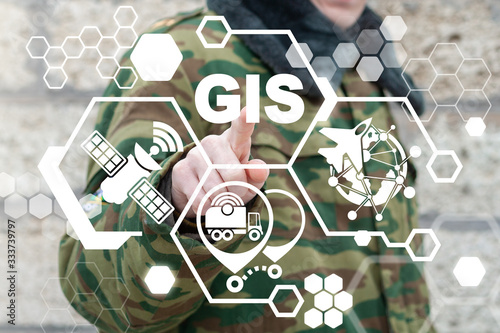 Cuadros en Lienzo Geographic Information System (GIS) Army Technology