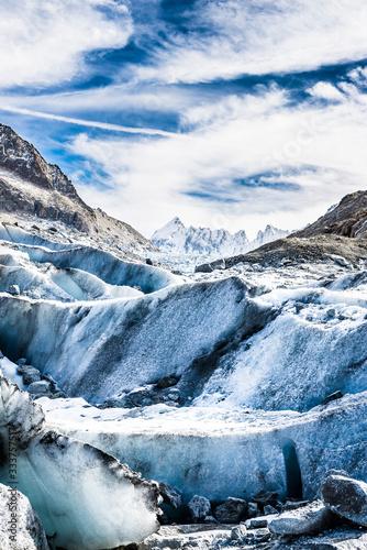 Canvastavla Détail du Glacier de l'Argentière
