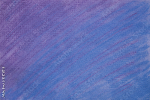 blue and violet pastel crayon on paper background texture