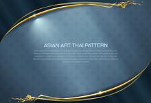 Asian Pattern Background Thai Art  Frame Border