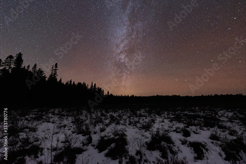 Photo The Milky Way over Algonquin Park in Winter